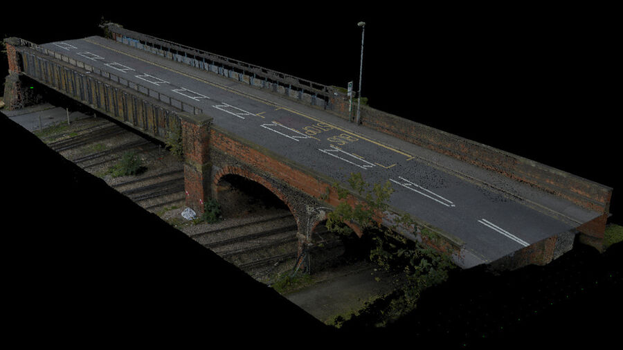 3D Point Cloud scan of the bridge
