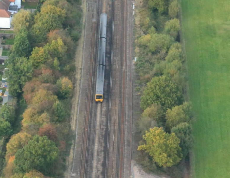 Rail UAV Vogel Generic Aerial Shot