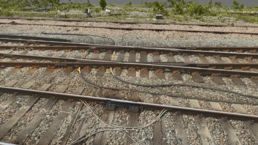 Rail UAV Vogel Point Cloud Tracks