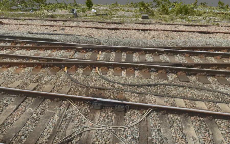 Rail UAV Vogel Point Cloud Tracks