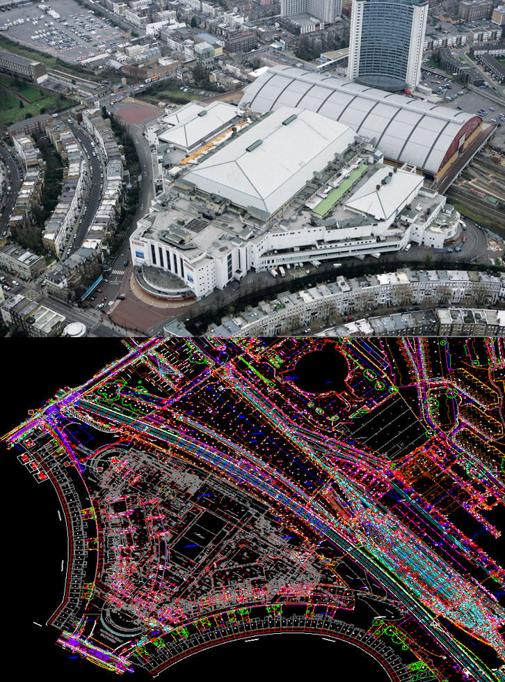 Master Drawing vs Aerial Overlay at Earls Court