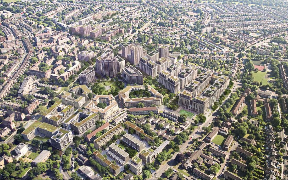 Property Clapham Park BIM Model Aerial 3