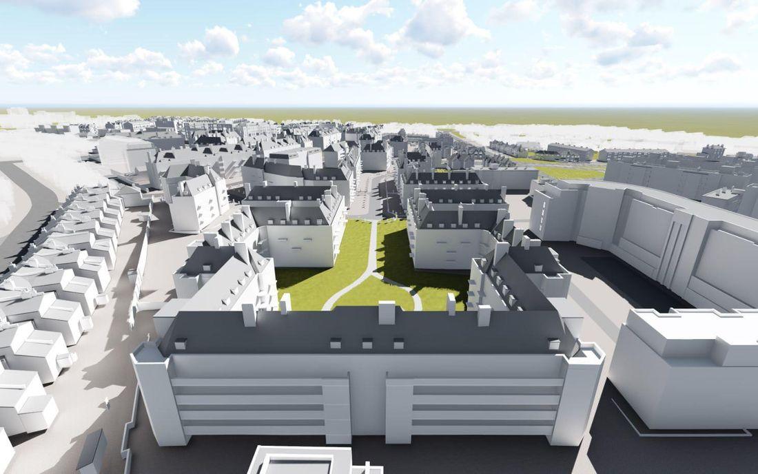 Clapham Park Aerial BIM Model