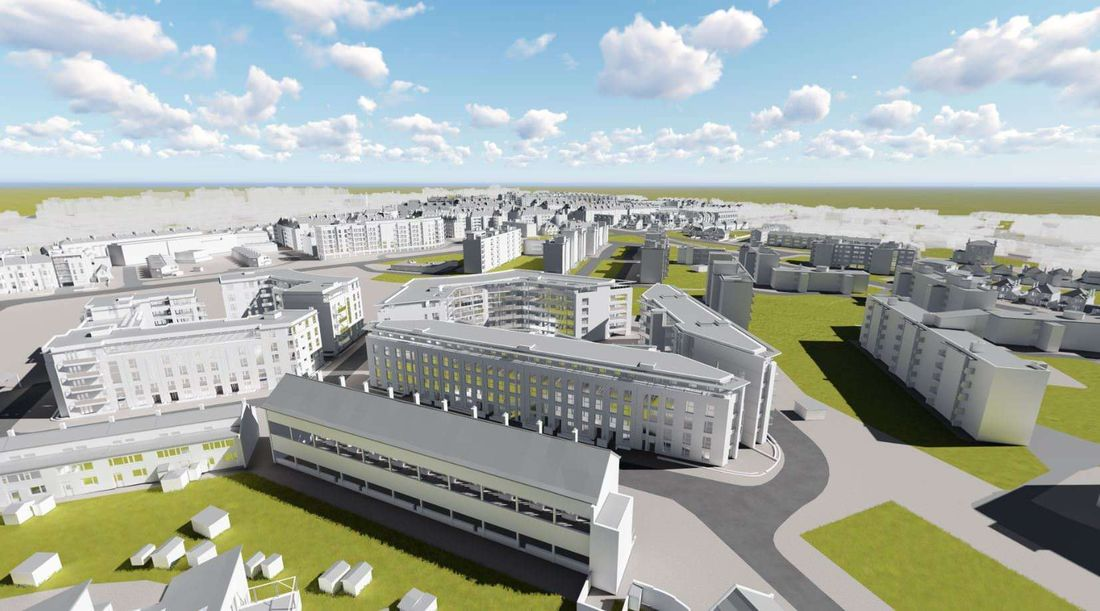 Property Clapham Park BIM Model Aerial