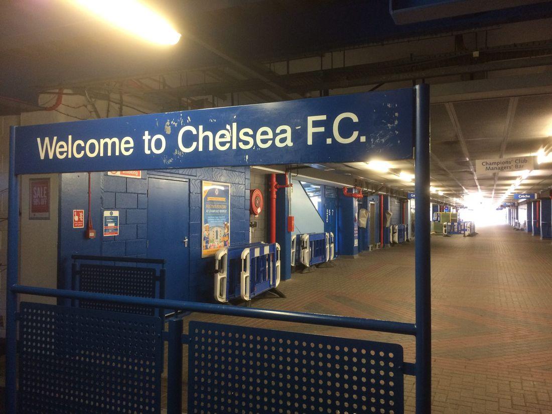 The existing concourse at the Stamford Bridge stadium