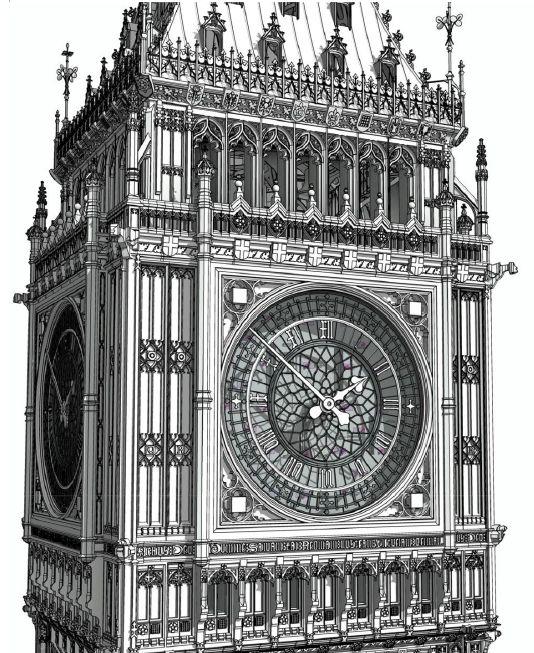 BIM Model of Parliamentary Estates Elizabeth Tower