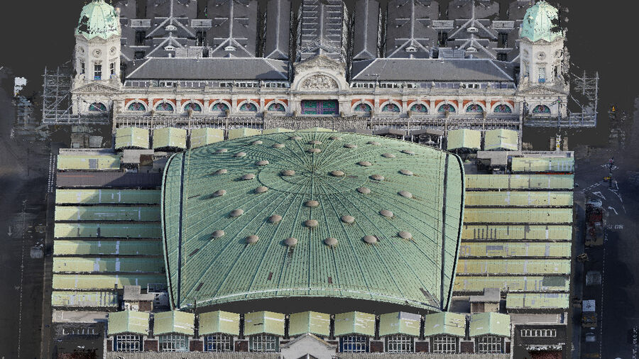 Point-cloud Scan of the Poultry Market roof