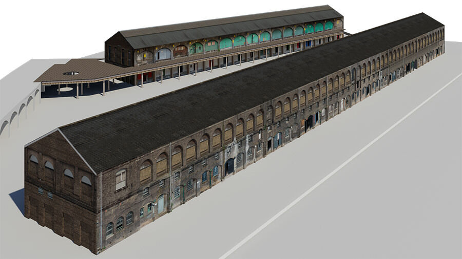 Kings Cross Coal Drops 3D Model