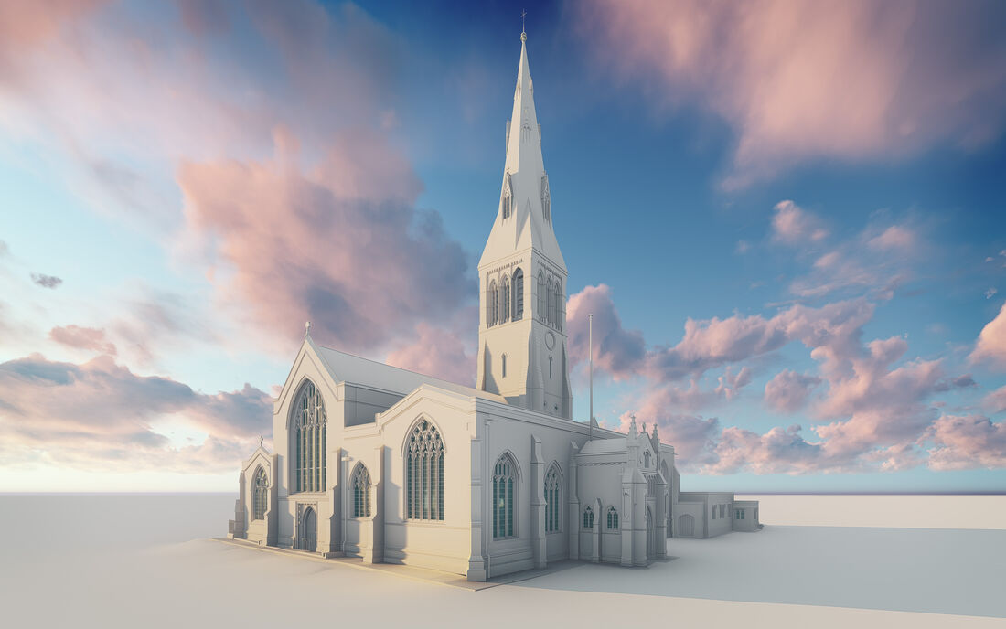 Heritage Leicester Cathedral Bim Model Exterior 2