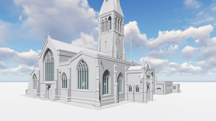 BIM Model of Leicester Cathedral Exterior