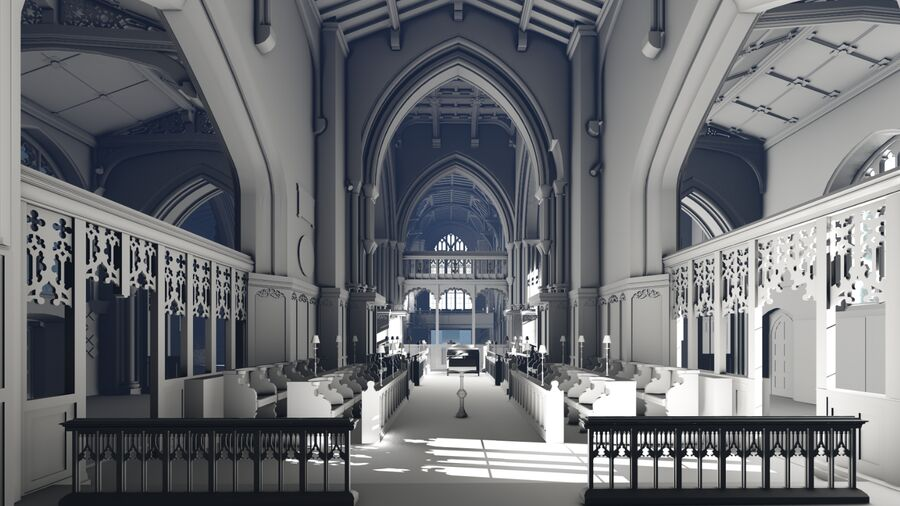 Heritage Leicester Cathedral BIM Model Interior