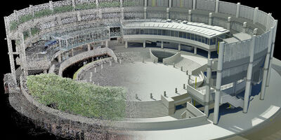 Property Broadgate Arena 3 D Model Half Scan