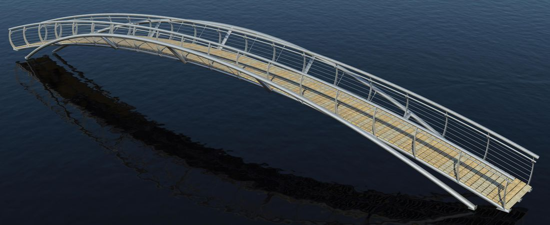 Infrastructure Jubilee Bridge Render