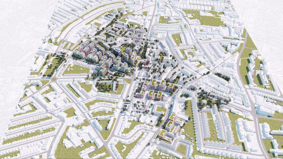 Property Bim Model Clapham Park Aerial