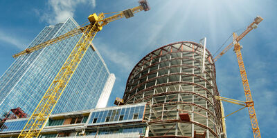 Property Generic London Skyscape Crane Development