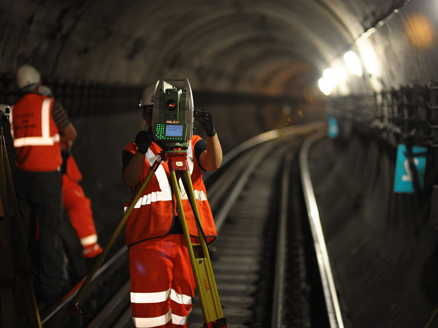 Rail Underground Tunnel Staff Equipment Flipped