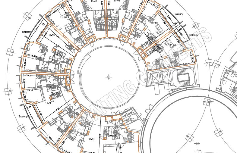 A sample areas report for King's Cross Gasholders