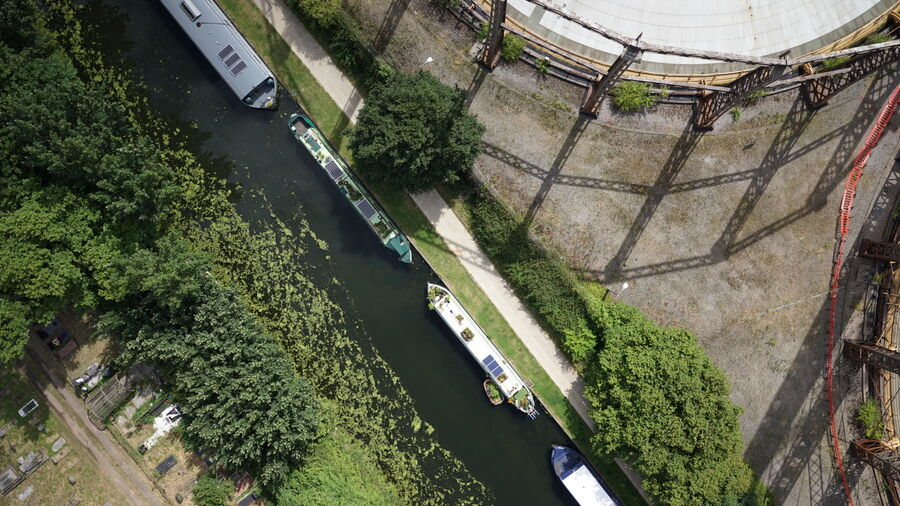 Uav Canal Way Gasholder Waterway