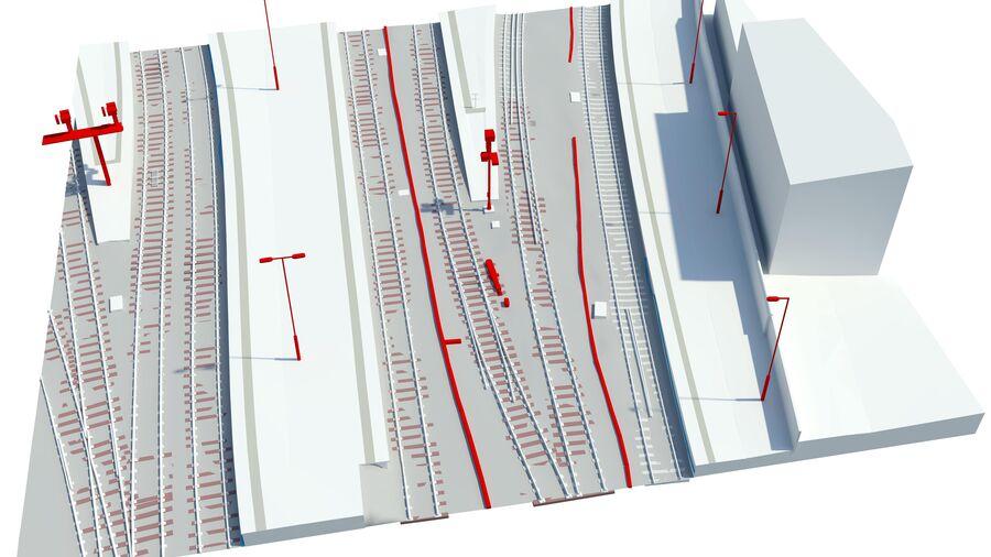 Bim Rail Uav Vogel Perth Station Model 1