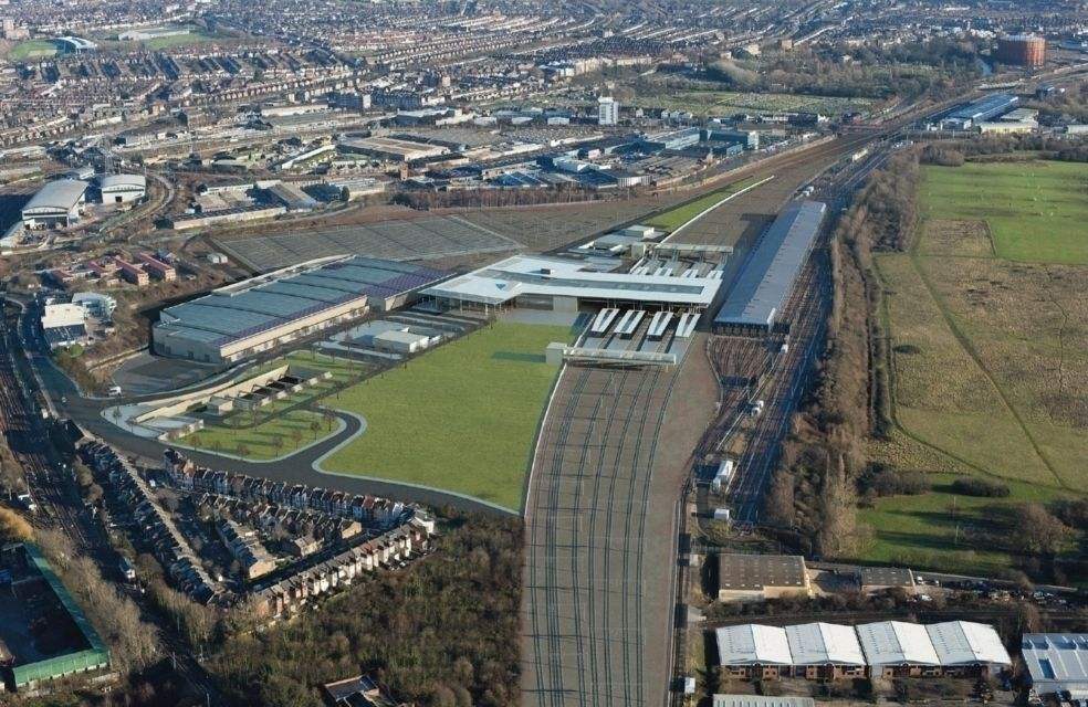 Crossrail Depot, Old Oak Common Aerial Photo