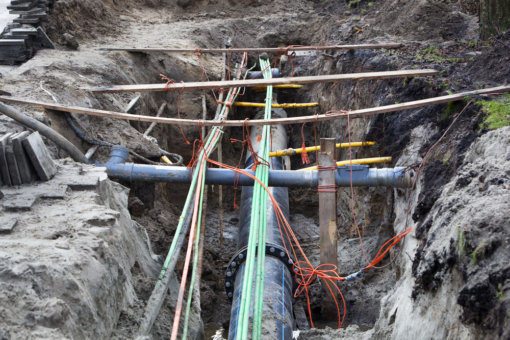 Utilities Underground Pipe Construction