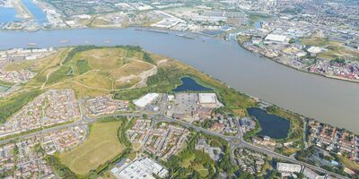 Environmental Services West Thamesmead Aerial