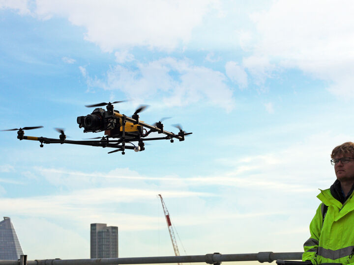 Uav Property London Staff Equipment Falcon 5 With Sky