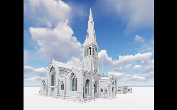 Leicester Cathedral Heritage 3D BIM Model